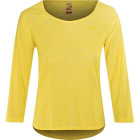 Kari Traa Pia LS - T-shirt manches longues Femme - jaune
